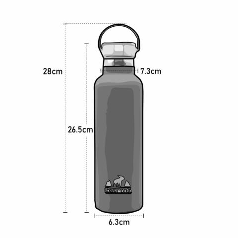 Whitney Bottle Dimensions