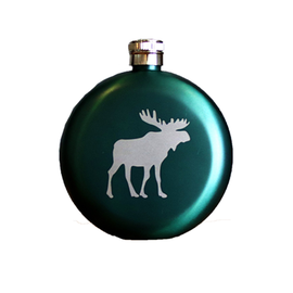 CHILLY MOOSE CHILLY MOOSE - 5 OZ LITTLE JOE FLASK - PINE