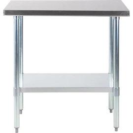 "Vortex Equipment STAINLESS STEEL PREP TABLE (24"" x 36"")"