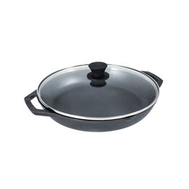 """LODGE CHEF'S COLLECTION PAN + LID+LOOP PACK (12"""")"""