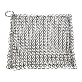 """BBQVille Canada CHAIN MAIL STAINLESS STEEL SCRUBBER (8"""" x 6"""")"""