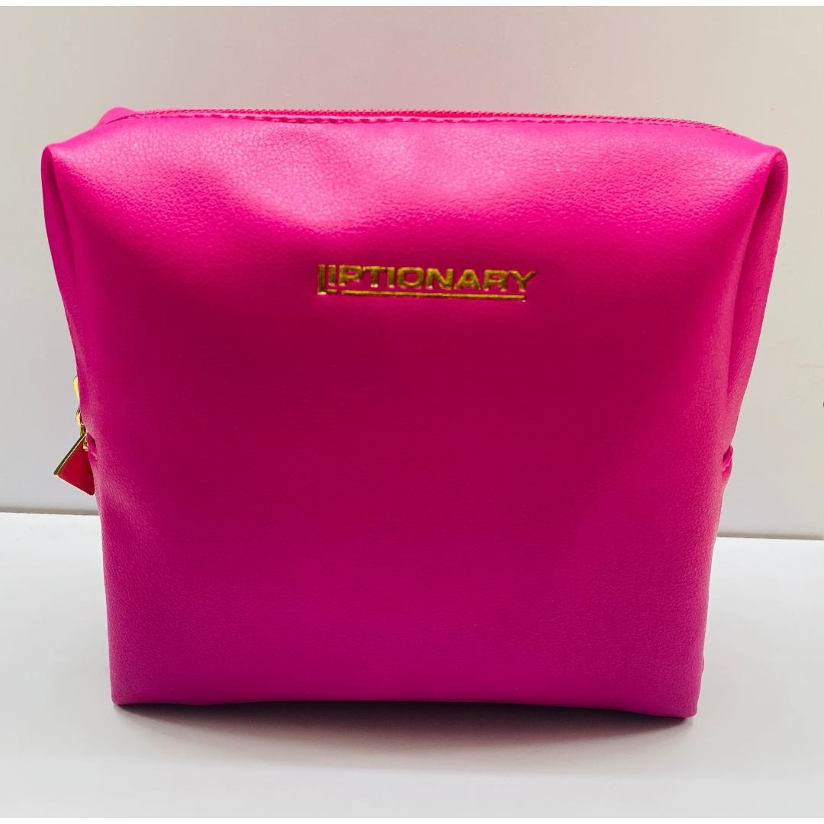 Vegan Leather Lip Bag - Hot Pink
