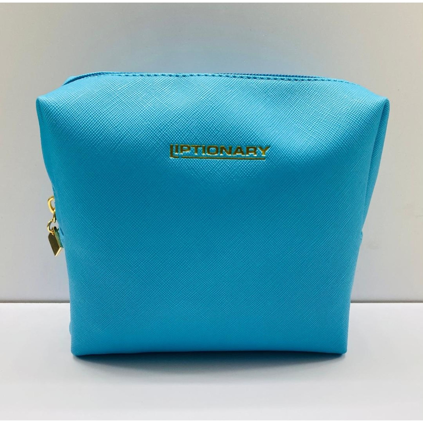 Vegan Leather Lip Bag - Turquoise