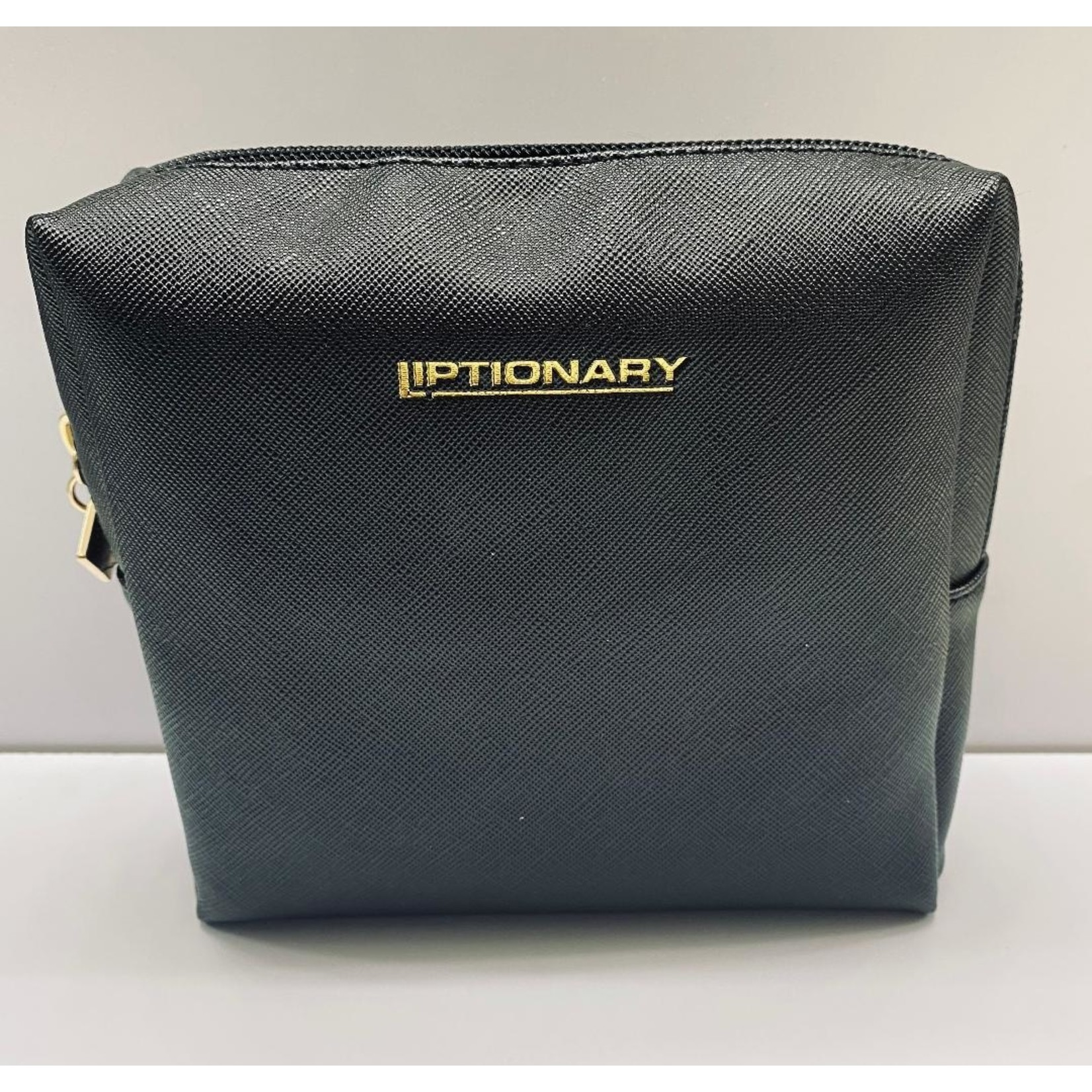 Vegan Leather Lip Bag - Black