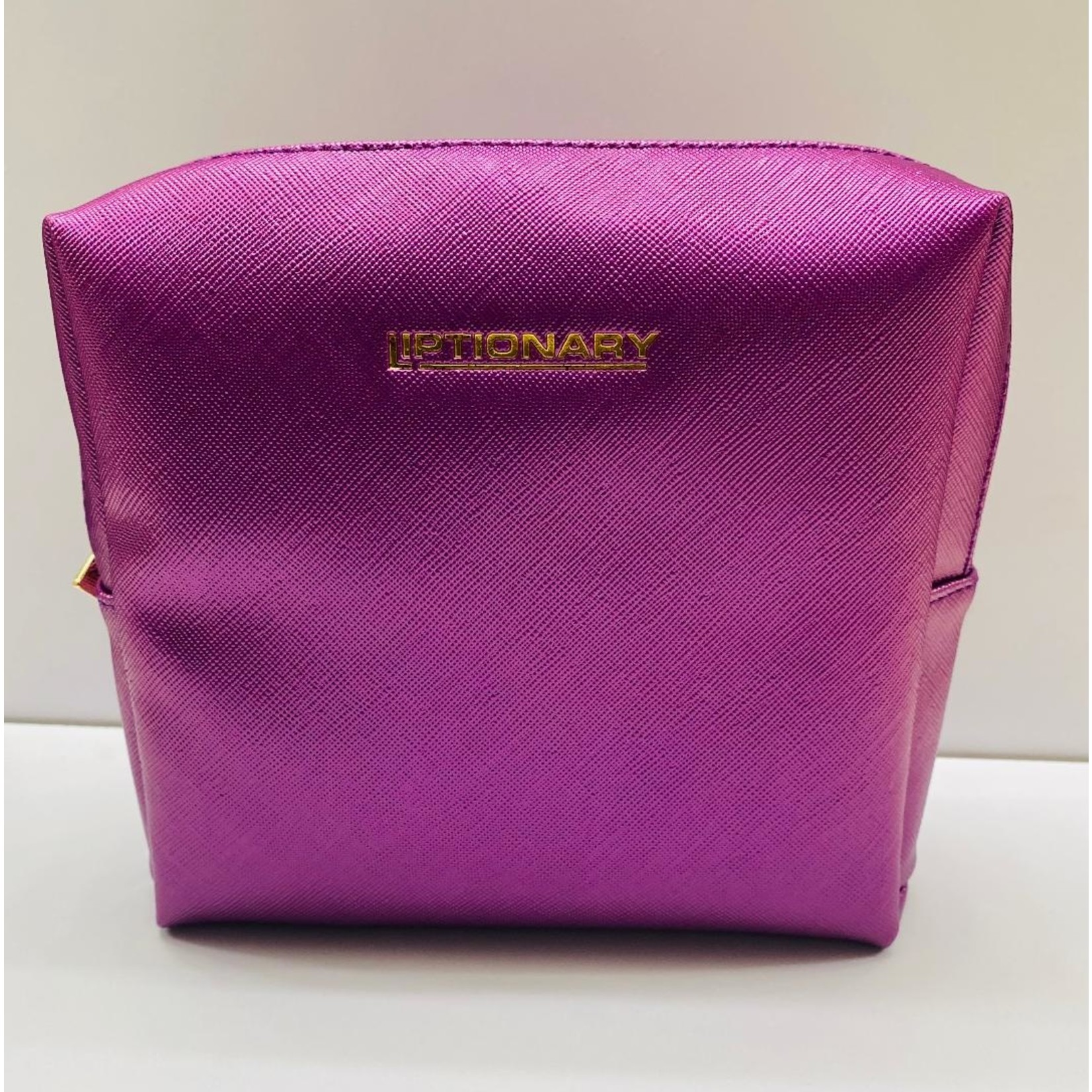 Vegan Leather Lip Bag - Purple
