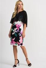 Joseph Ribkoff Joseph Ribkoff Floral Dress with black sheer overlay