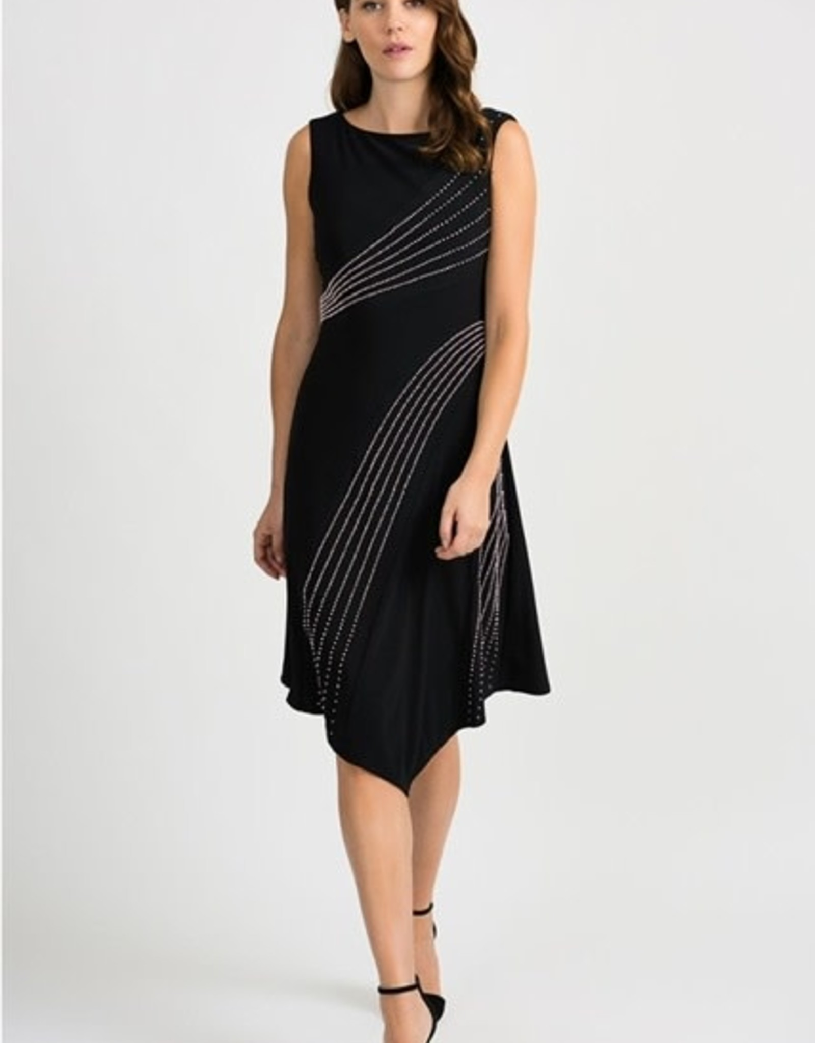 Joseph Ribkoff Joseph Ribkoff sleeveless Dress with rose gold beading 201124