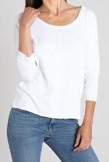 Mododoc Mododoc 3/4 sleeve open neck easy tee
