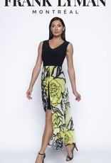 Frank Lyman Frank Lyman 196703 black Dress with pattern overlay long skirt