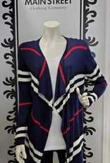 Cherie Bliss Cherie Bliss Open Front Cardigan with Stripes CL14542