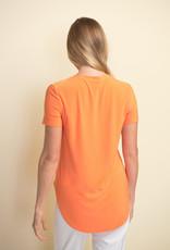 Joseph Ribkoff Joseph Ribkoff 183220 Short Sleeve Top With Round Neckline and Hemline