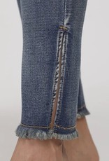 Tribal Tribal 6958O Audrey Pull On Ankle Jegging with Side Slit