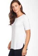French Dressing Jeans FDJ Ballet Neckline Semi Short Sleeve Top