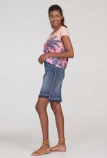 Tribal Tribal pull on skirt with released step hem 6393O