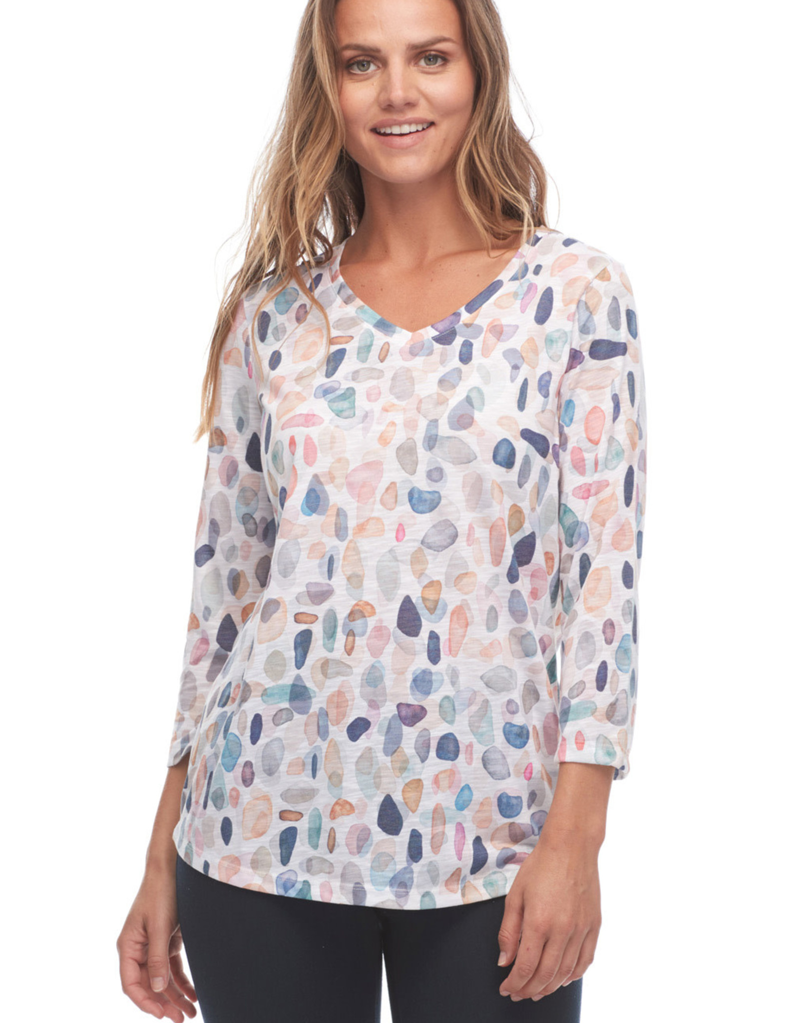 French Dressing Jeans FDJ 1292830 Seaside Pebbles Print Top