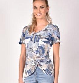 Frank Lyman Frank Lyman 211507 Floral Short Sleeve Knit Top