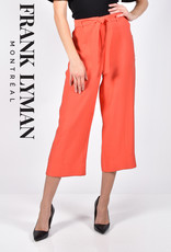 Frank Lyman Frank Lyman 211158 Woven Culottes with Belt and Pockets