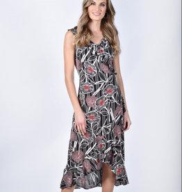 Frank Lyman Frank Lyman 211422 Floral Print Knit Sleeveless Dress