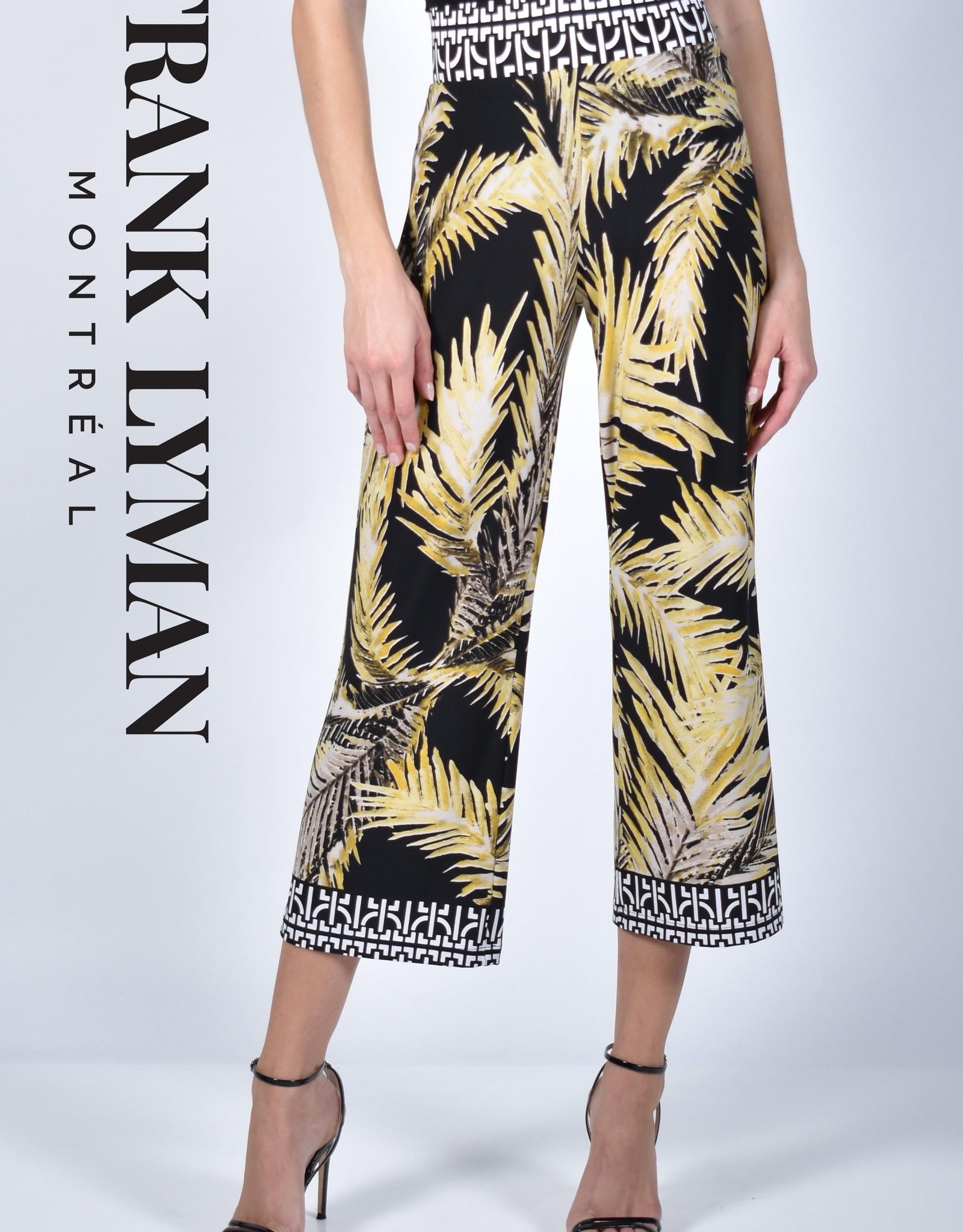 Frank Lyman Frank Lyman 211309 Knit Culottes with a Tropical Leaf Pattern