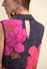 Joseph Ribkoff Joseph Ribkoff 211279 Sleeveless Floor Length Dress in Florals and Polkadots