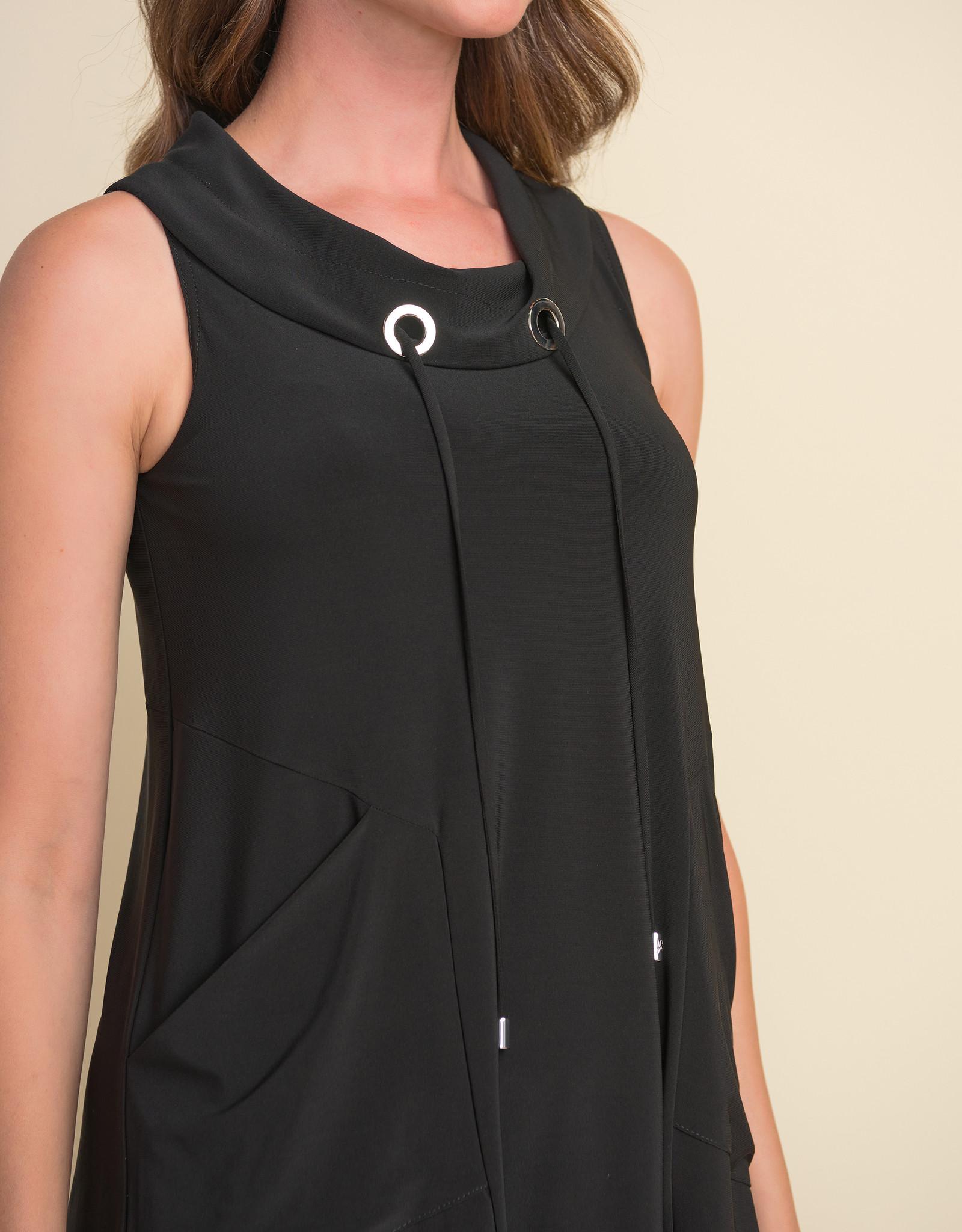 Joseph Ribkoff Joseph Ribkoff 212175 Sleeveless Tunic with Pockets and Round Collar