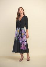 Joseph Ribkoff Joseph Ribkoff 211177 3/4 Sleeve Dress with Faux Wrap and Flowy Skirt