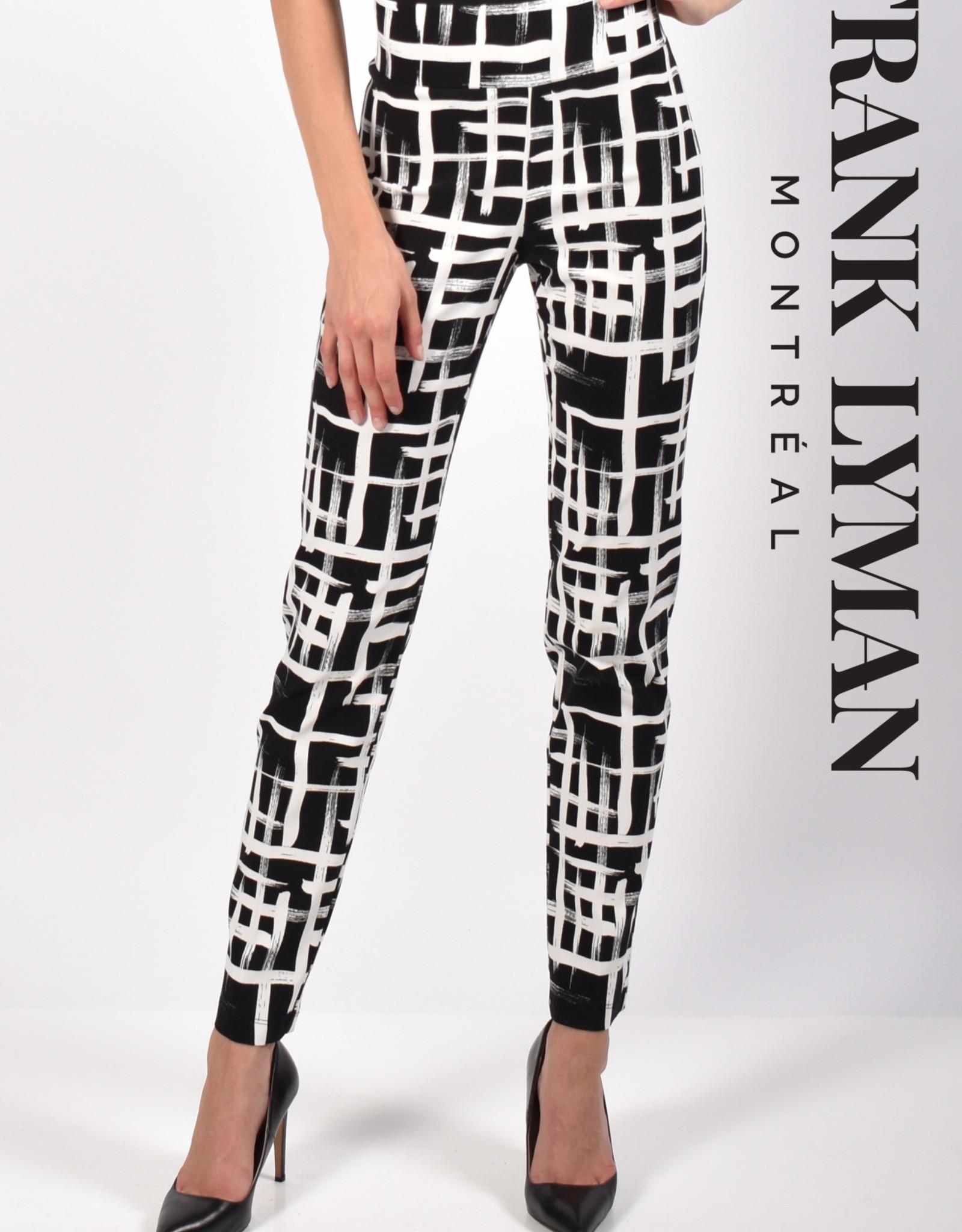 Frank Lyman Frank Lyman 216388 Woven Pant in a Fun Edgy Checkered Pattern