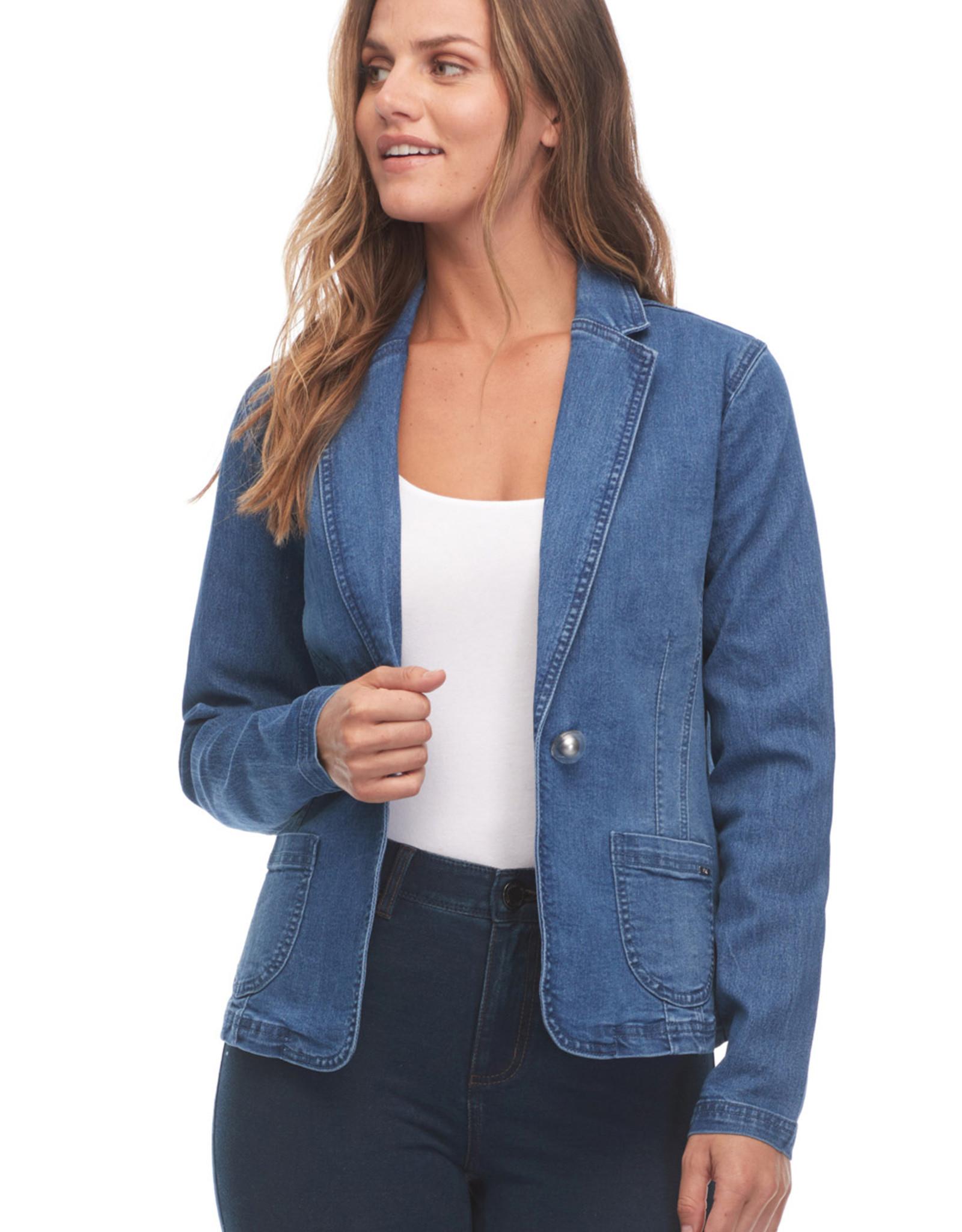 French Dressing Jeans FDJ 1615378 Denim Blazer with Pockets