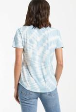 ZSUPPLY ZSUPPLY V-neck Lipa Tshirt spiral tie dye