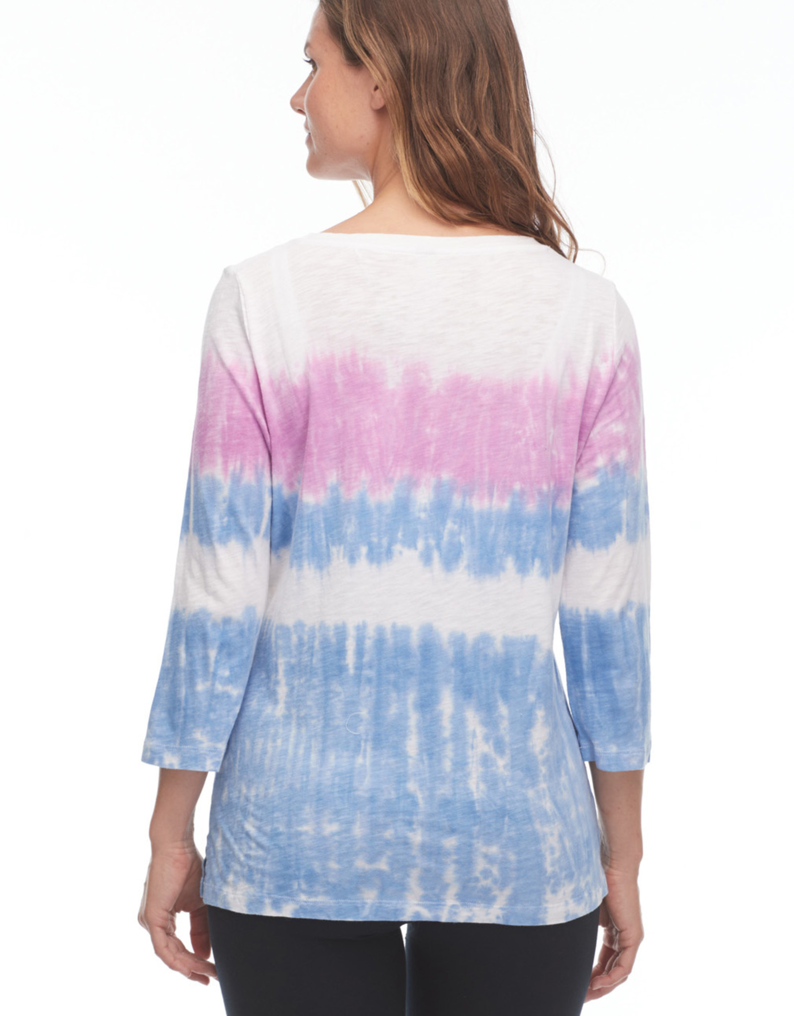 French Dressing Jeans FDJ 1302476 Tie Dye Scoop Neck Top