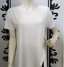 Saba & Co Saba & Co T106 Uneven Hem Tee made with Modal Material