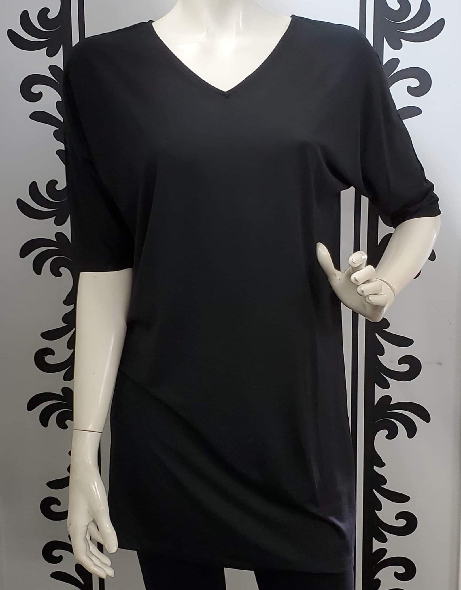 Saba & Co Saba & Co DR01 Quarter Sleeve V Neck Tunic