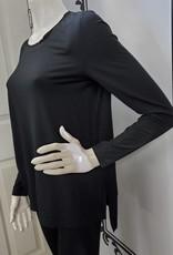 Saba & Co Saba & Co T841 Long Sleeve Hi Lo Hem Top Made with Modal Material