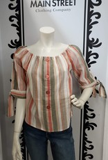 Keren Hart Striped cotton blouse 78022