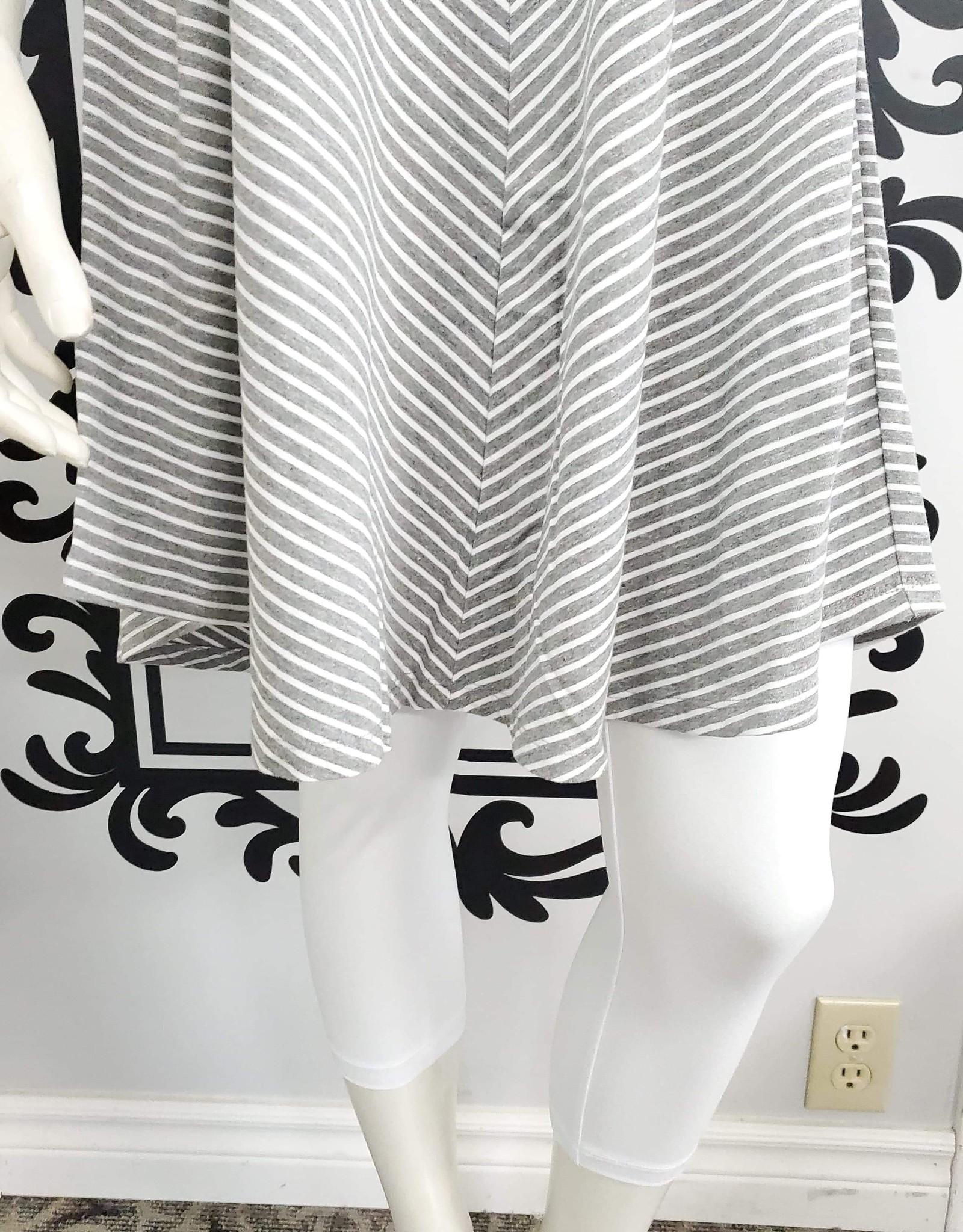 Keren Hart Striped Short Dress