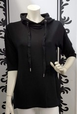 Keren Hart 3/4 Sleeve Hoodie Black