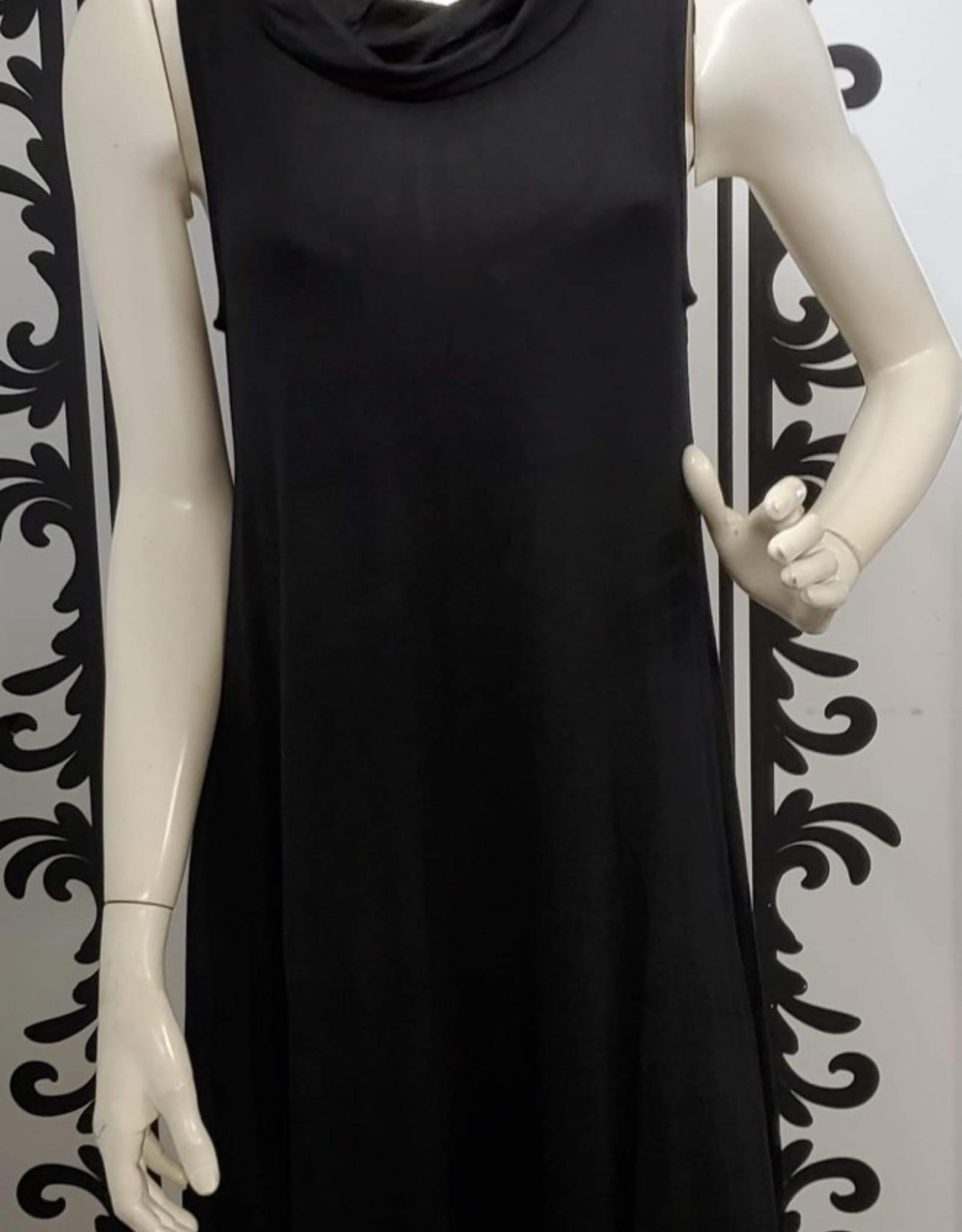 Keren Hart Cowl Neck Black Dress 48029