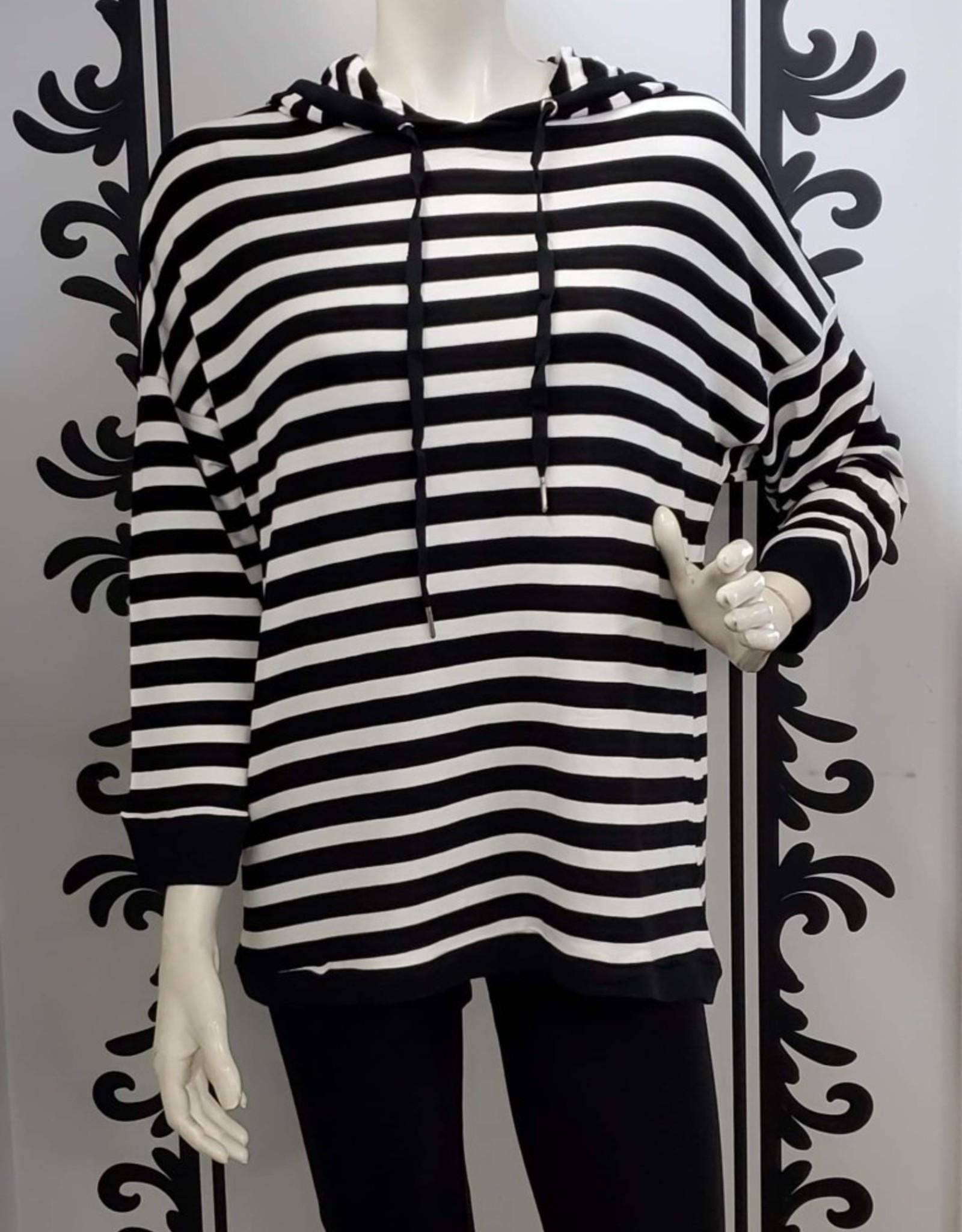 Keren Hart Striped Hooded Sweater 28025