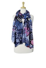 Caracol Vibrant Flower Printed Scarf  6087