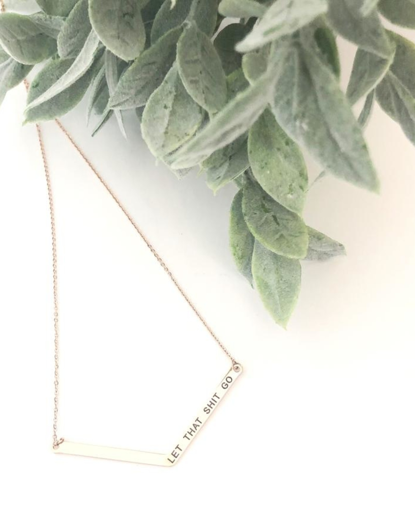Glass House Goods Glass House Goods Rose Gold Necklace with Fun Sayings