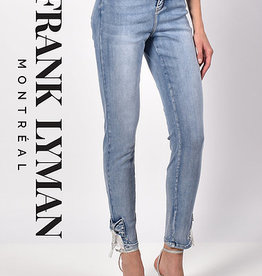 Frank Lyman Frank Lyman 216109 Light Blue Denim with Bows and Rhinestones at Ankle