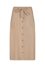 Soya Concept Soya Concept Su17453 Linen/Viscose Tan  Button Down Skirt