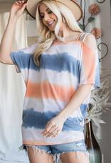 Lovely J Tie-Dye print top with spaghetti strap