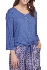 Tribal Tribal Henley with front tie 7084O