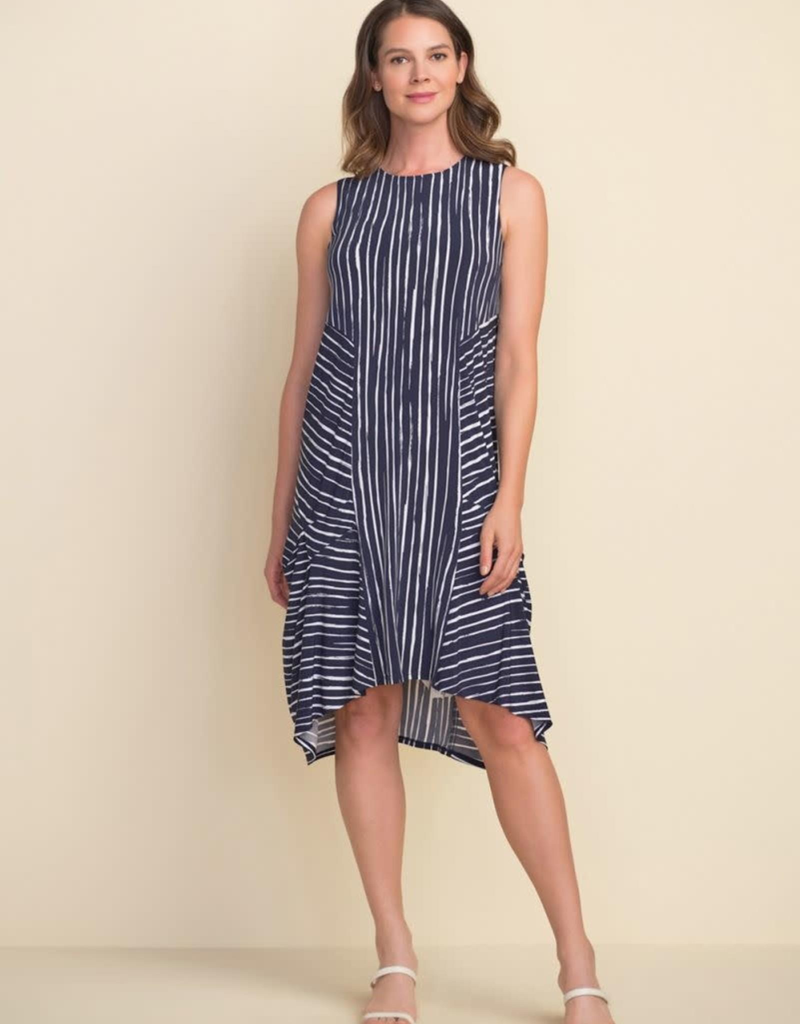 Joseph Ribkoff Sleeveless Striped Dress 212152