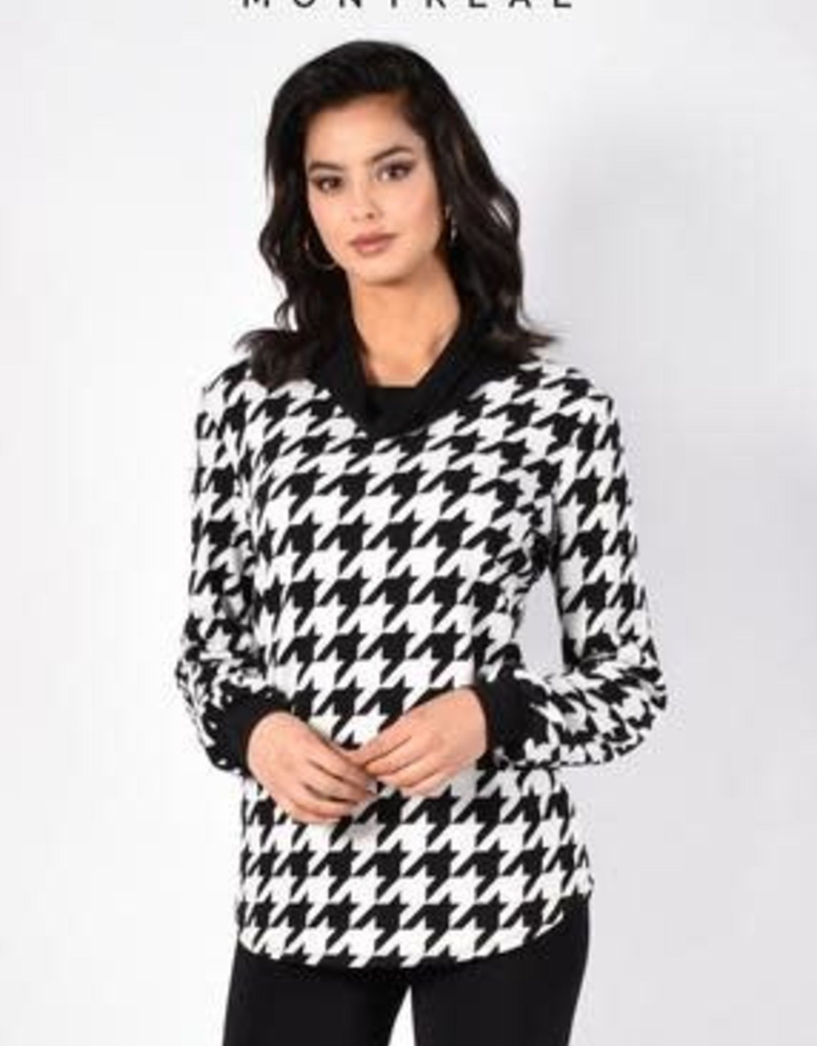 Frank Lyman Printed knit top with cowl neck 213756