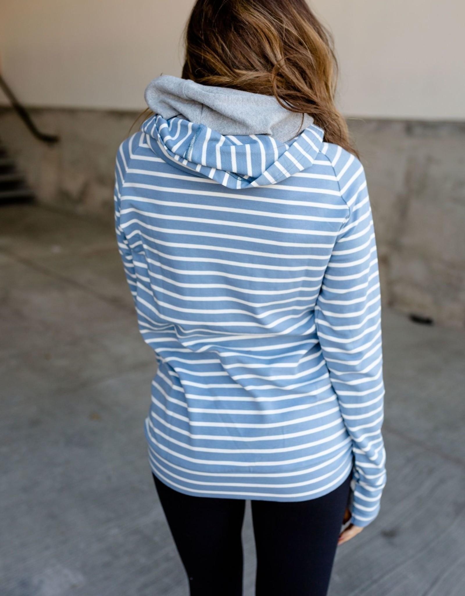 Ampersand Avenue DoubleHood Sweatshirt-city girl