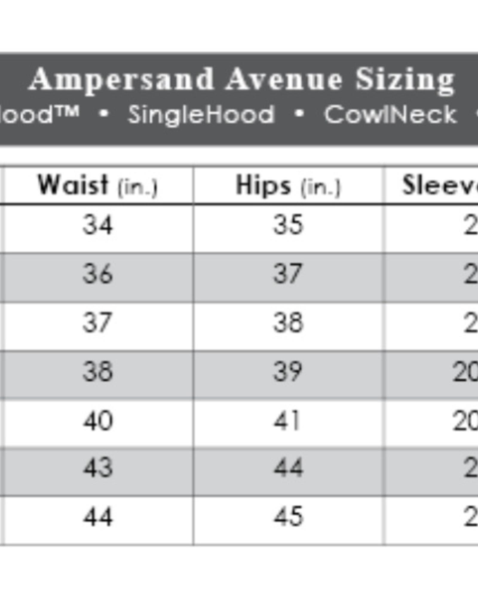 Ampersand Avenue Basic DoubleHood Sweatshirt-turquoise