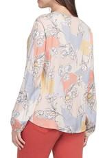 Tribal Tribal long sleeve blouse with pleats 4339O