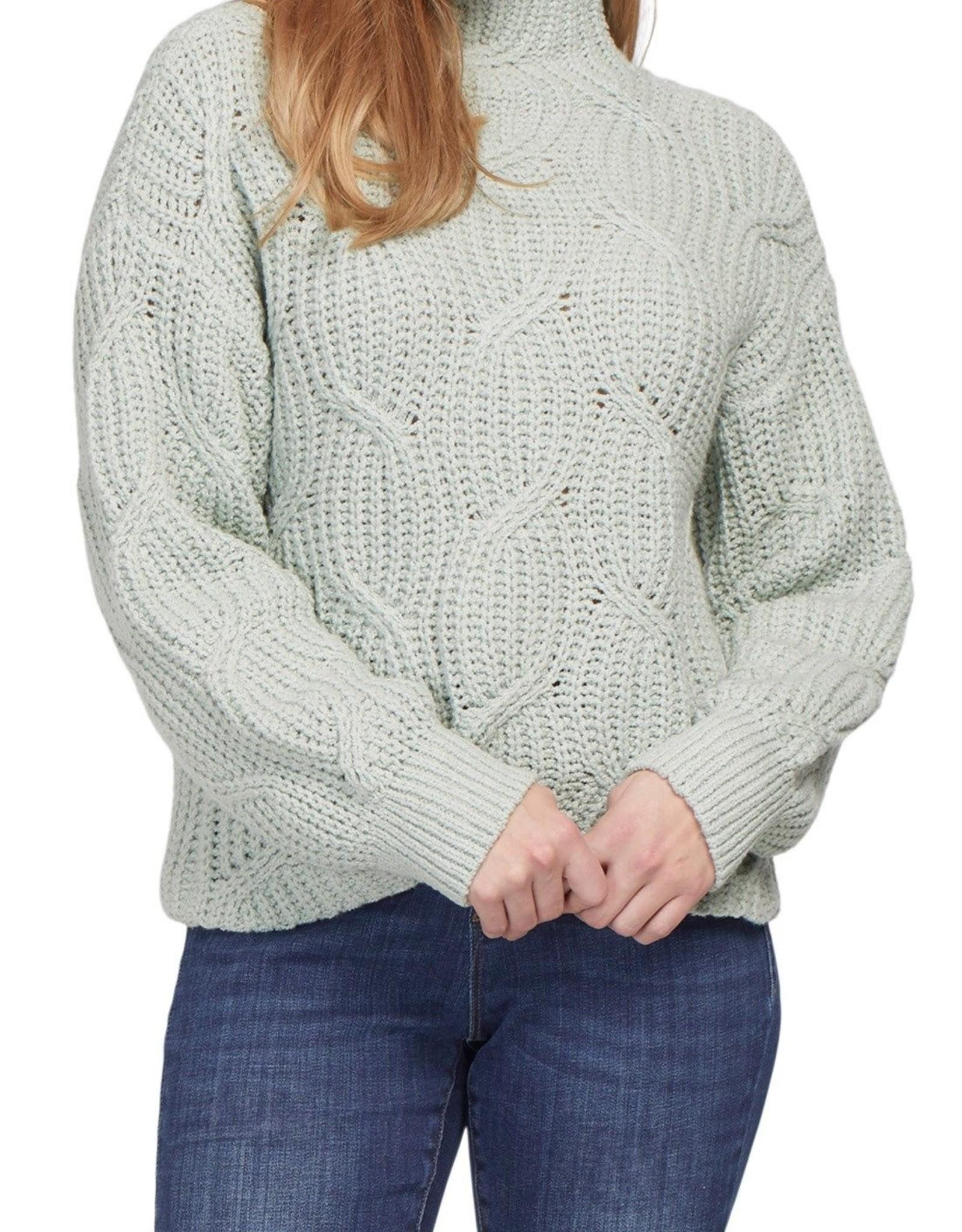 Tribal High Neck Oversized Sweater 7132O